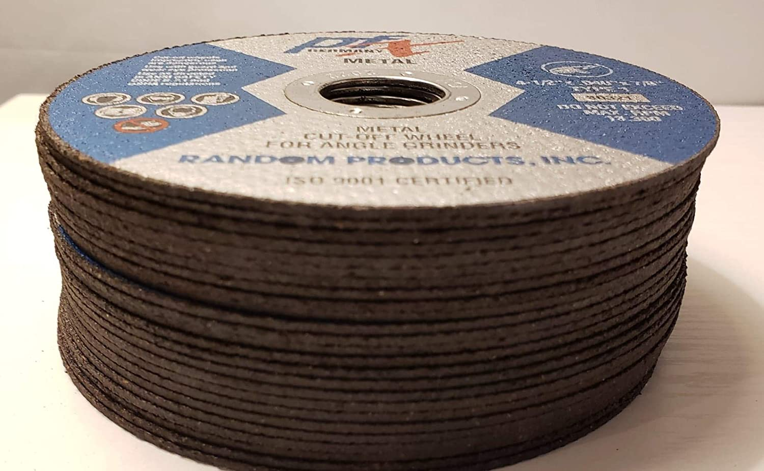 PFX 4 1//2 x .1//16 x 7//8 Type 1 Metal Cut Off Wheel For Angle grinders 25 Count