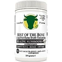 Concentré de bouillon d'os de bœuf de première qualité à saveur de champignons - 100 % provenant de bovins élevés au pâturage et nourris à l'herbe de l'AU - Peau et ongles plus sains, digestion saine
