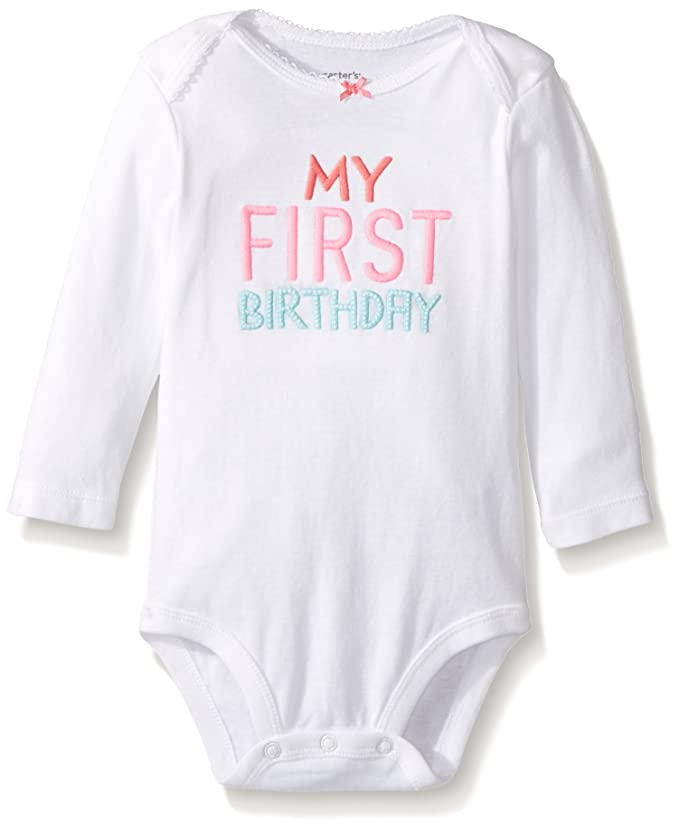 7f7f14e30 Amazon.com: Carter's My First Birthday Bodysuits: Clothing