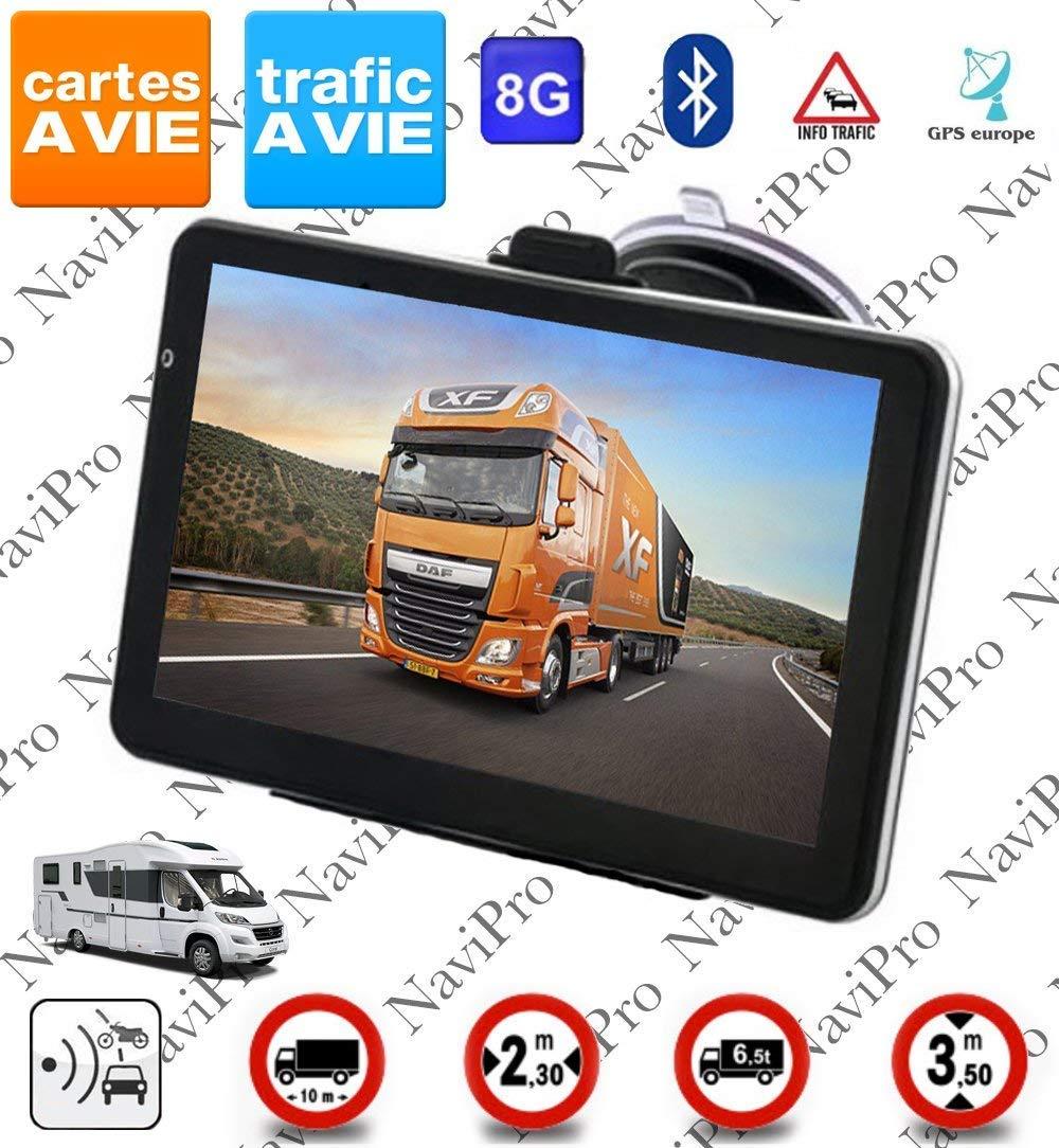 GPS Poids Lourds 7 Pouces Camion Bus Camping Car Europe Gratuite A Vie INFO TRAFIC product image