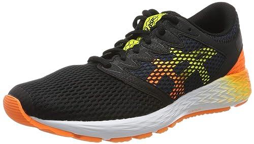 Black/Shocking Orange Running Shoes