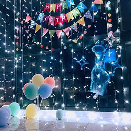 reputable site 7ee18 5fd0d Ever Smart String Lights LED Curtain Lights Twinkle String White Lights 8  Modes New Version Fairy Linkable String Light for Christmas Party Wedding  ...