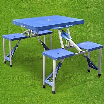 Generic - Picnic Plegable para Mesa de Picnic con sillas y sillas ...