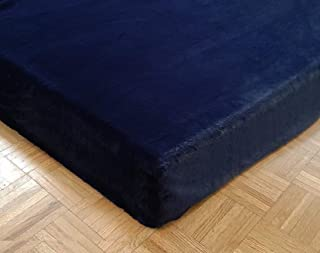product image for Sherpa Sheets - Seal Fur Fitted Bed Sheet - Thick Pile Velvety Fleece… (Navy, CA King)