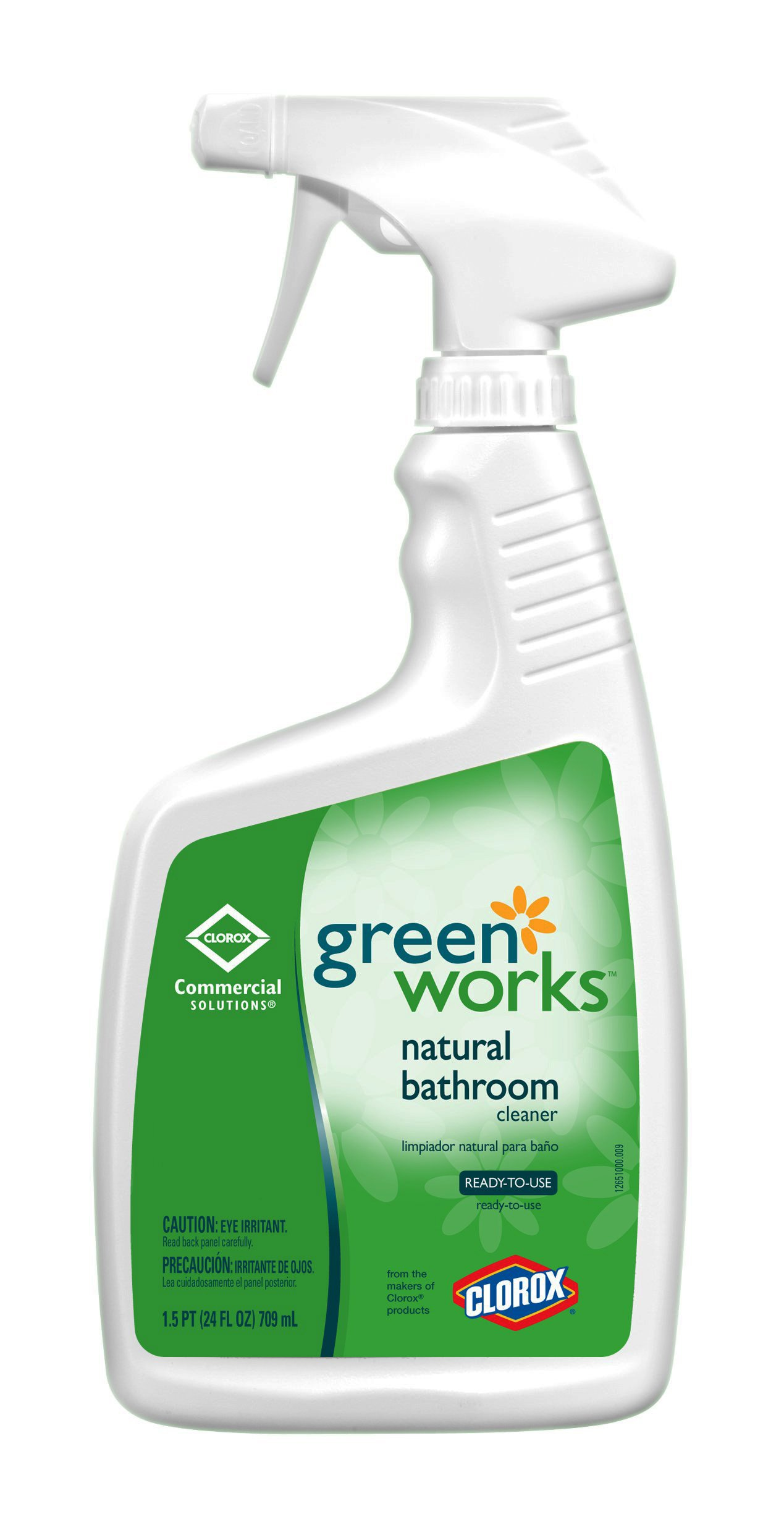 Clorox Green Works 00452 Commercial Solutions General Bathroom Cleaner Spray, 24-Ounce