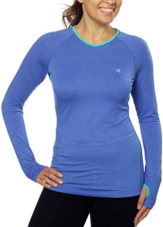Champion Womens Active Athletic Shirt Long Sleeve Thumnhole