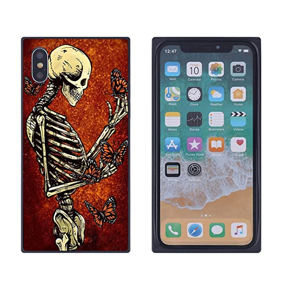 Amazon Com Iphone Xs Max Case Skull Butterfly Case For