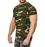 Happy Clothing Camiseta de Camuflaje para Hombre, Camiseta Militar