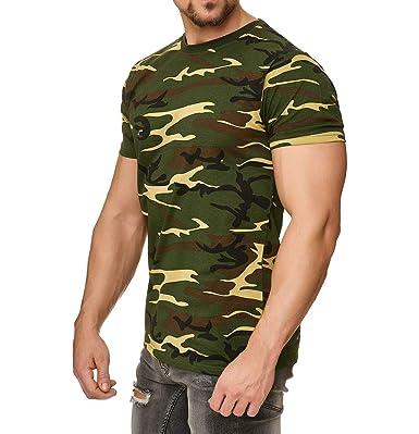 ade61e704c Happy Clothing Camiseta de Camuflaje para Hombre