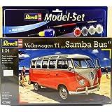 Revell Model Set - 67399 - Maquette - Combi VW T1 Samba Bus - blanc - Échelle 1/24 - 80 pièces