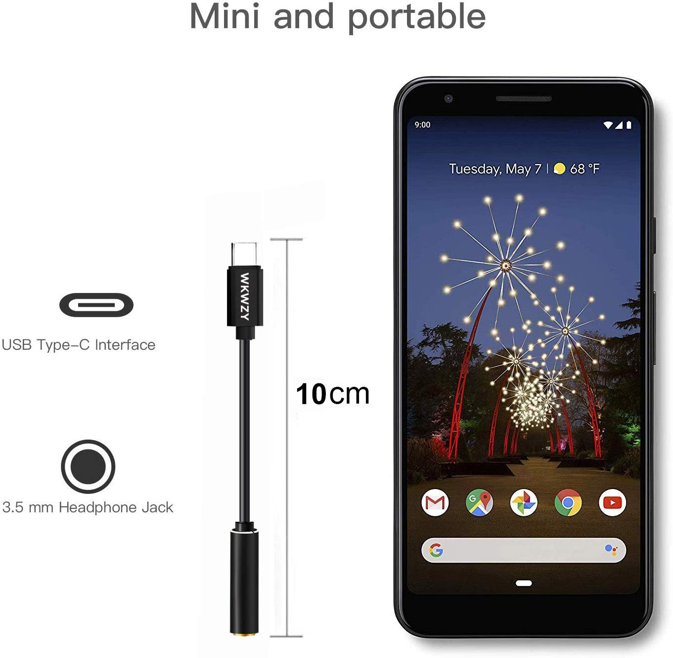 USB C Headphone Adapter Pixel Dongle USB C to 3.5 mm Headphone Jack Adapter Compatible with Pixel 2//3//2XL//3XL,Oneplus 7 pro//6T,Moto Z,Huawei Mate10 Pro//P20//Mate20