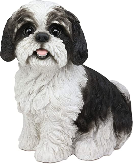 "Ebros Large Adorable Shih Tzu Dog Resin Statue Realistic Shih Tzu 10.25/""H"