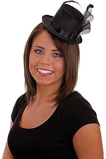 3c046e30b Amazon.com: SODIAL(R) Ladies Mini Top Hat Fascinator Burlesque ...