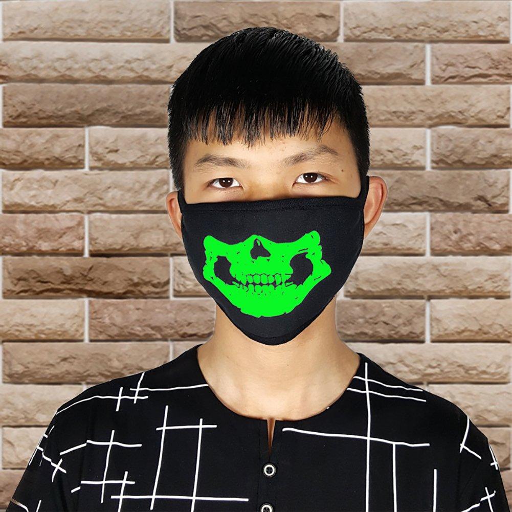 Trenton Halloween Skull Pattern Cool Luminous Unisex Cotton Blend Anti Dust Face Mouth Mask for Man Woman by TRENTON (Image #8)