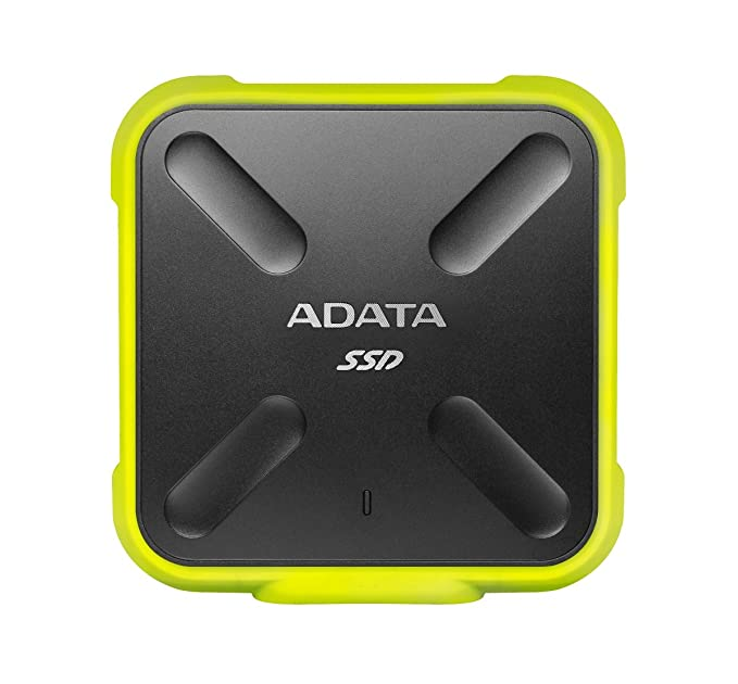 ADATA SD700 1TB Military Grade Shockproof Waterproof Portable USB 3.1 External SSD Solid State Drive (Yellow) External Solid State Drives at amazon