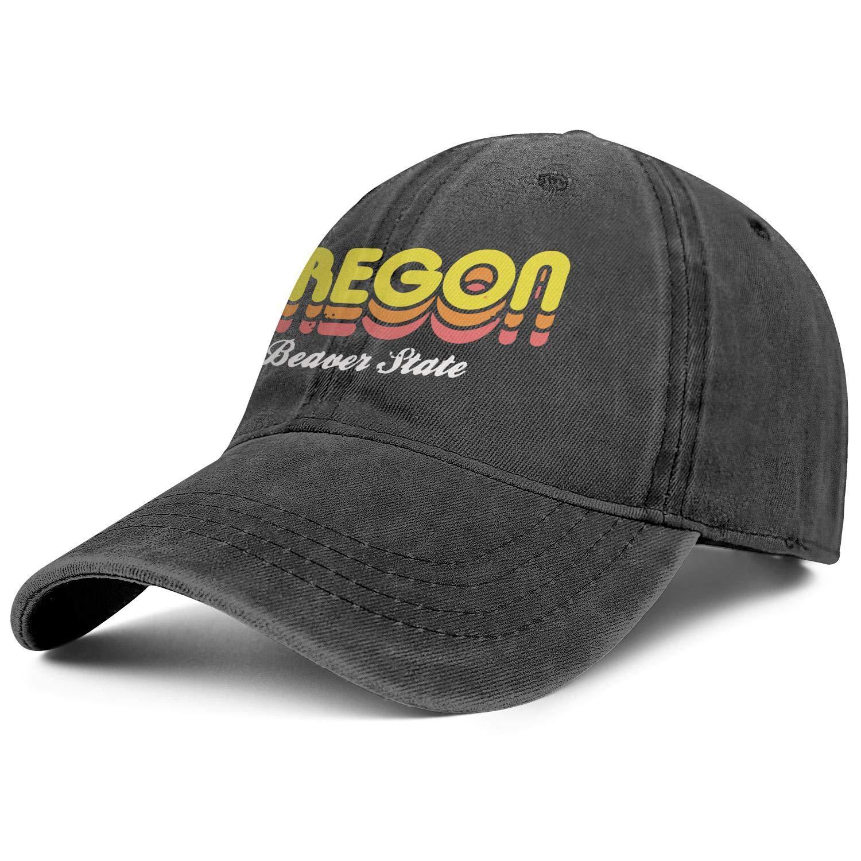 Beaver State Oregon Denim Trucker Caps Men//Women Best Cowboy Sports Caps