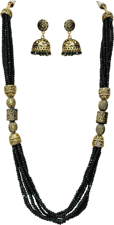 Indian jewellery. Antique mala Necklace Jaipuri Mala set traditional jewellery