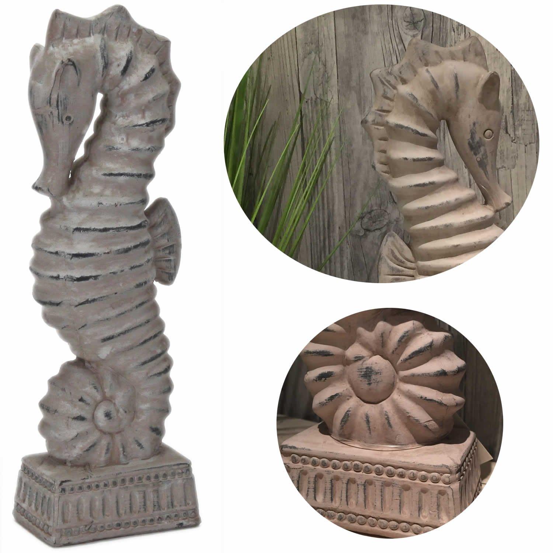 LS Design Seepferd Seepferdchen Sockel Skulptur Maritim Deko Bad ...