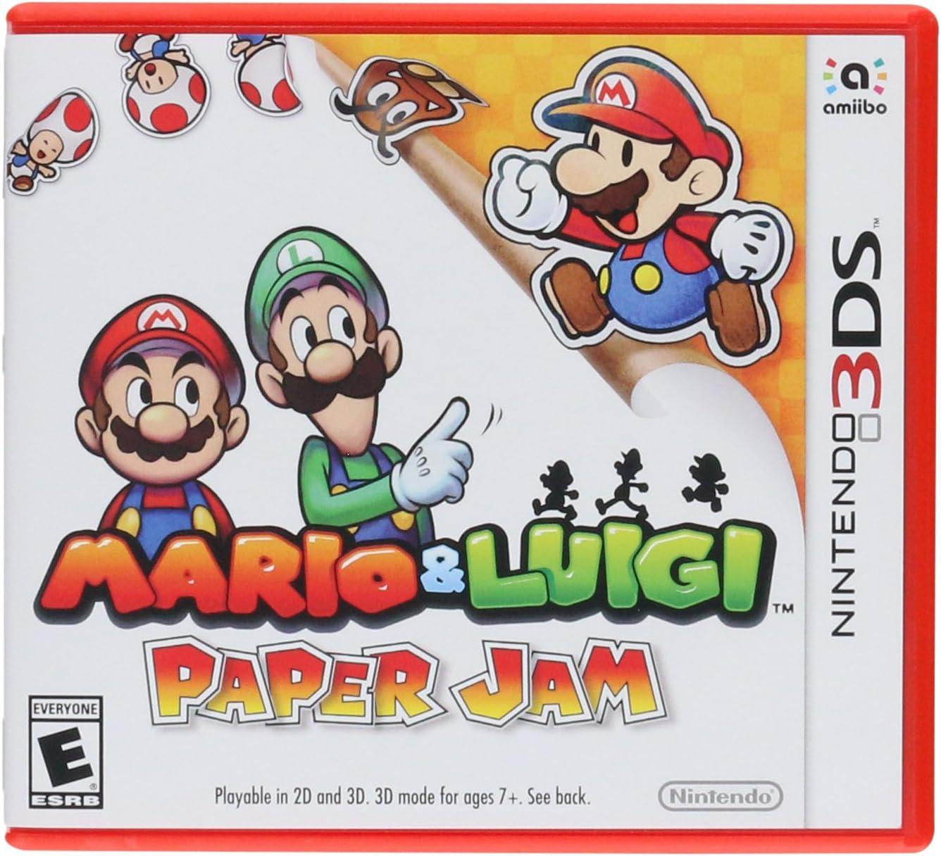 Amazon Com Mario Luigi Paper Jam Nintendo 3ds