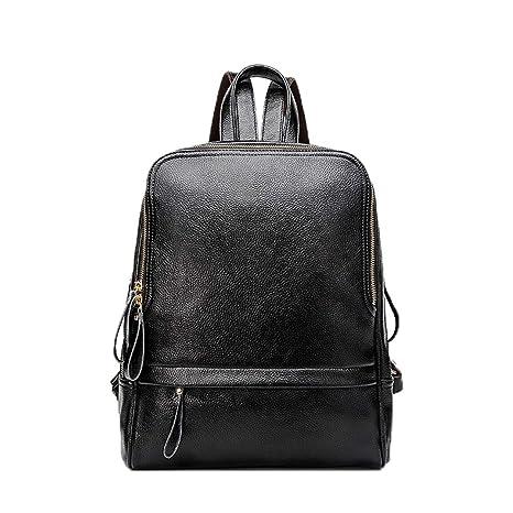 Pteng Chica Bolsa de Cuaderno Diario Mochilas Escolares PU Cuero Backpack Estanca Bolsa de Viaje Resistente