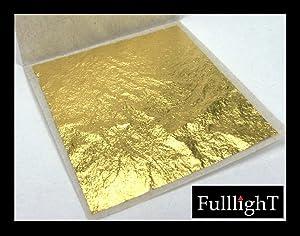 Thai Tradition Gold Leaf Sheet, 10 Pcs. Selected Grade 999/1000, 24 Karat 1.5