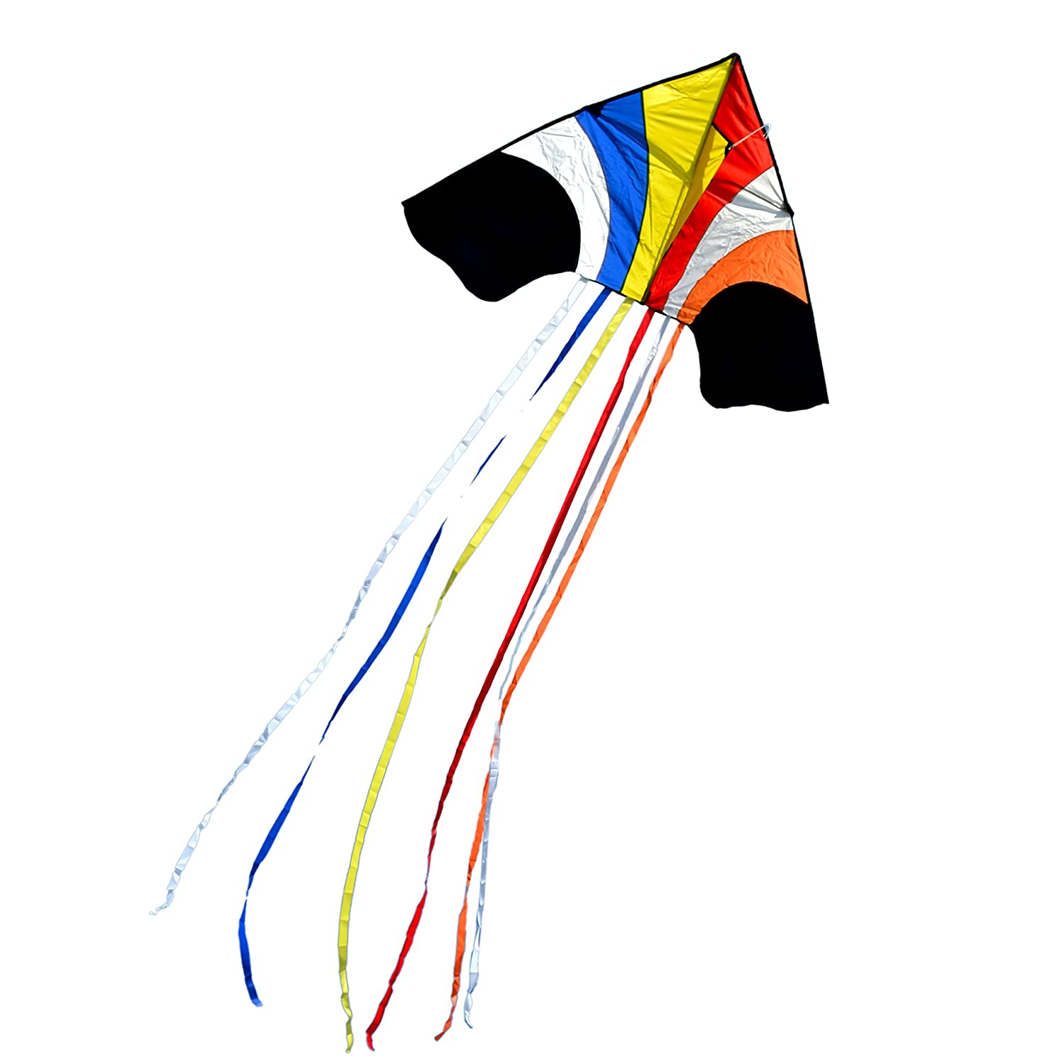 Delta Kite Sky Waterfall 60-inch ( W ) with 8-ft Long複数Tails。異なる色で利用可能 B01MG9AONL マルチカラー