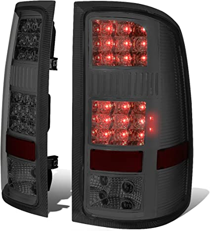 For 2007-2013 GMC Sierra 3500HD LED Red//Clear Lens Rear Brake Tail Lights Lamps