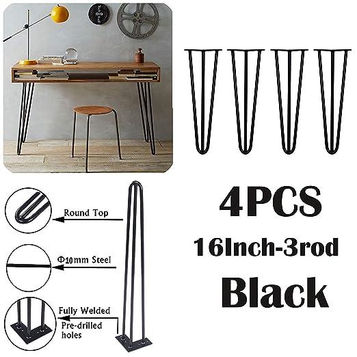 4 patas de horquilla para mesa, estables, 41 cm, altura de la mesa ...