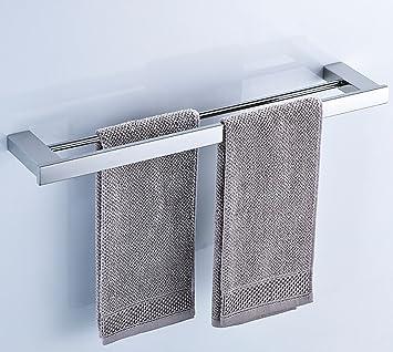 Bxgj Handtuchhalter 304 Edelstahl Handtuchhalter Doppel