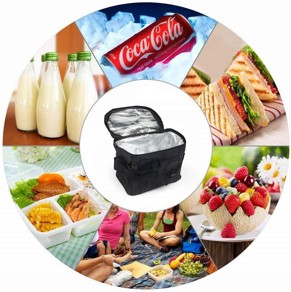Picnic Bag Foldable Gym Travel Ice Bag for Camping Insulated Lunch Bag Red Picnic Sunshine smile Picnic Cool Bag Cooler Bag Lunch Bag Waterproof