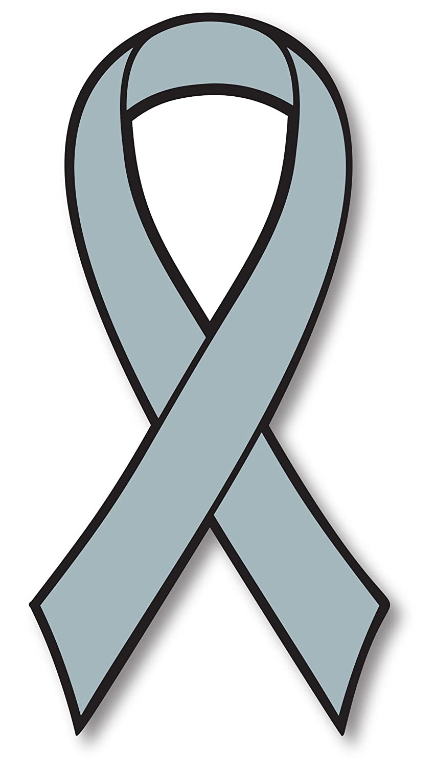 Amazon com grey brain cancer awareness ribbon car magnet decal heavy duty waterproof automotive