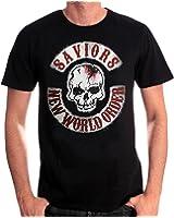 Walking Dead Herren T-Shirt Savior Patches schwarz Baumwolle