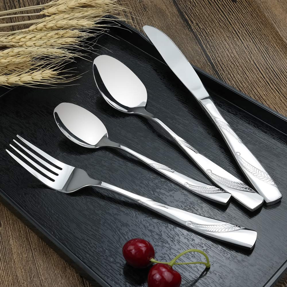 12 Lesbye cucina posate 48/pezzi per persone in acciaio INOX