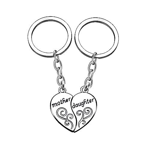 Amazon.com: Juego de anillo de llavero madre hija 2 piezas ...