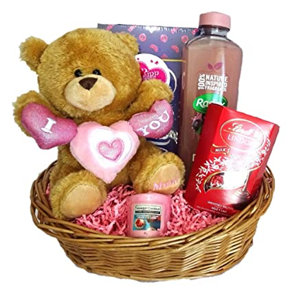 Its Mine Mothers Day Birthday Gift Basket Hamper For Her Present Mum Mummy Teddy Amazoncouk Kitchen Home
