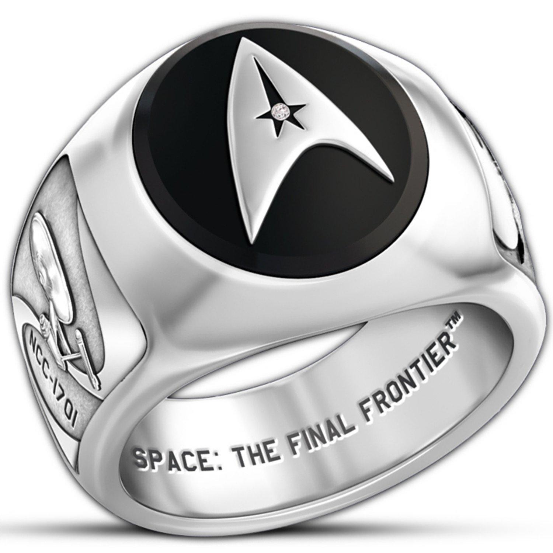 star trek collectors ring by the bradford exchangeamazoncom - Star Trek Wedding Ring