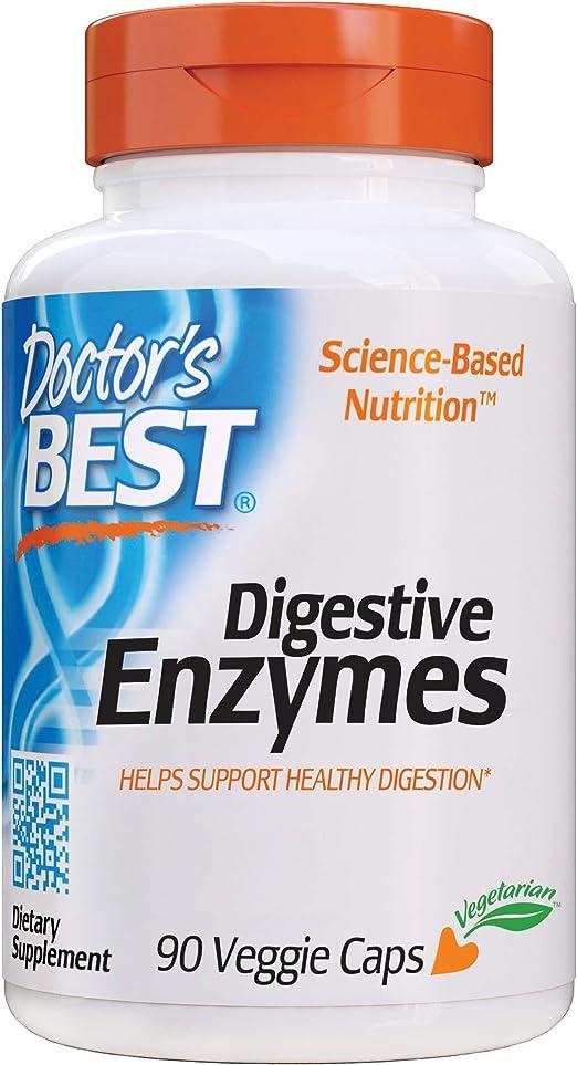 Doctors Best, Enzimas Digestivas, 90 Cápsulas vegetarianas, sin gluten: Amazon.es: Salud y cuidado personal