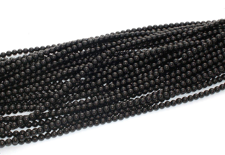 ONYX 10mm PERLEN  A-GRADE schwarz glänzend rund Schmuckperlen 1 Strang
