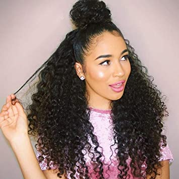 150% Density Pre Plucked Full Lace Human Hair Wigs Brazilian Deep Curly 360 Lace Wigs