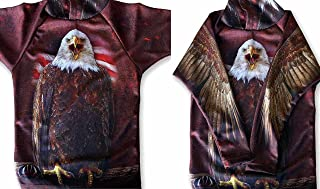 product image for MouthMan Bald Eagle USA Hoodie Sport Shirt for Men & Women