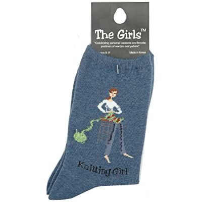 K. Bell Women's Novelty Girl Power Socks, Knitter