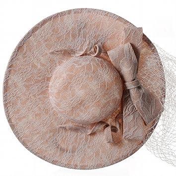 TSM Sombrero - Tocados de Novia de otoño e Invierno para Mujer Batas de Lino Gorras