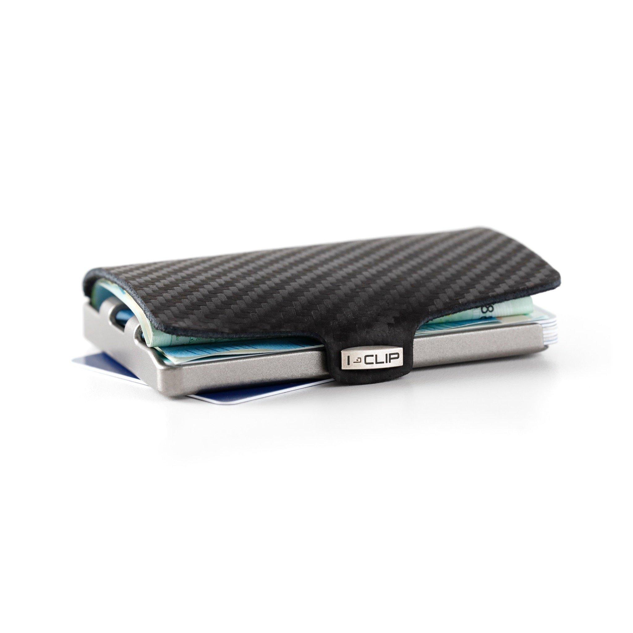 I-CLIP - Carbon Fiber - Slim Wallet - Minimalist, Thin Design & Money Clip
