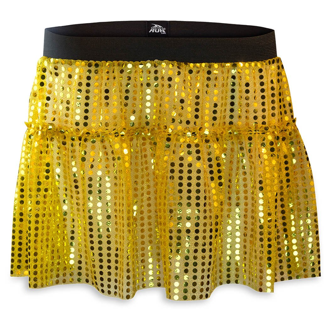 Running Costume Tutu Skirt by Gone For a Run   Glitter Sequined Tutu   Gold, One Size by Gone For a Run