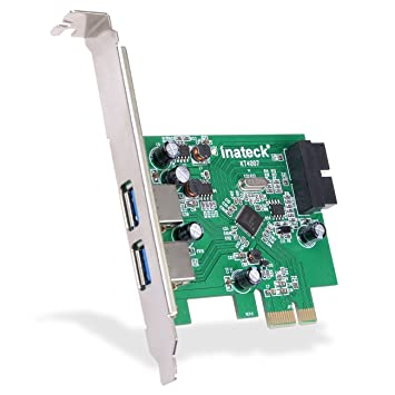 Inateck PCI-E a USB 3.0 de 2 puertos PCI-E Tarjeta Express para Windows XP / 7/8, Mini PCI-E USB 3.0 Adaptador Controller Hub, con USB 3.0 interno de ...