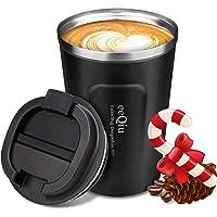 Izolowany kubek do kawy - eeQiu 13 uncji 100% szczelny - kubek podróżny ze stali nierdzewnej - kubek samochodowy z…