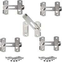 5 stuks deurslot schuifpoort vergrendeling kleine deurbout,hangslot hasp Duty, deurhasp slot 90 graden, roestvrij stalen…