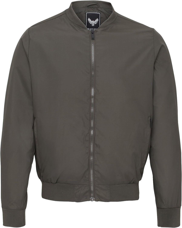 Brave Soul Mens Sanjay Classic Full Zip Bomber Jacket