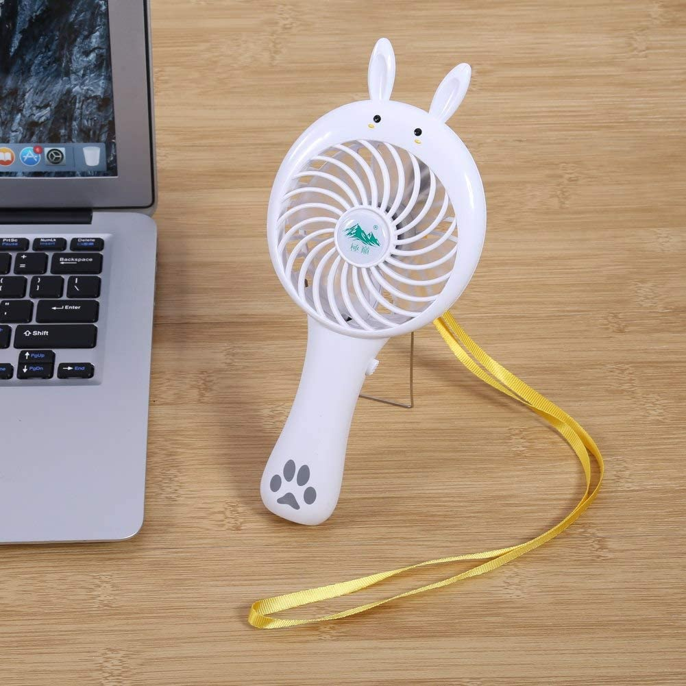 PrinceShop New Durable Adjustable USB Gadget Mini Small Fan Rechargeable Large Wind Power Portable Creative Cartoon