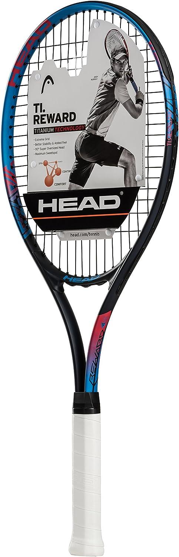HEAD Ti. Reward Tennis Racket – Pre-Strung Light Balance 27 Inch Racquet
